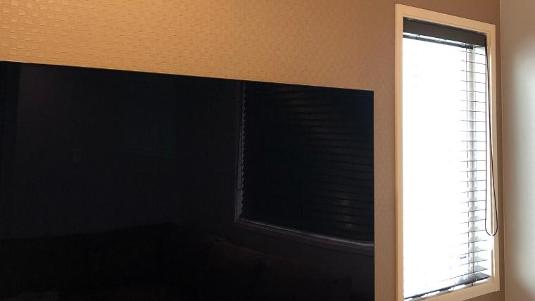 壁掛けテレビの場合